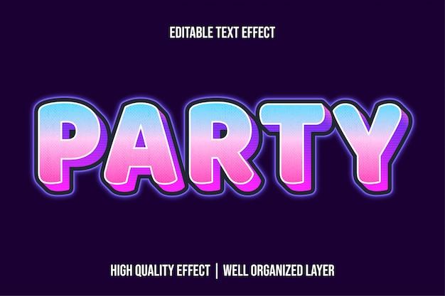 Вечеринка modern glowing text effect стиль Premium векторы