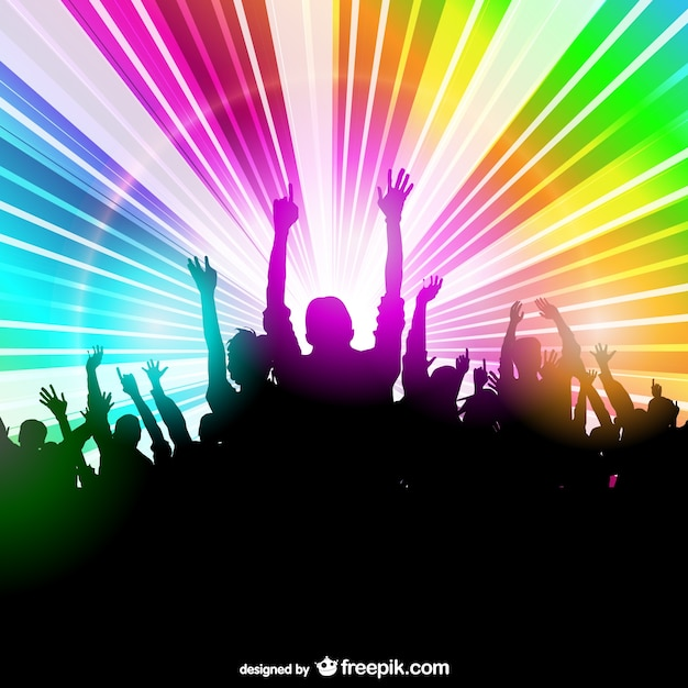 Party people disco light design Vector   Free Download
