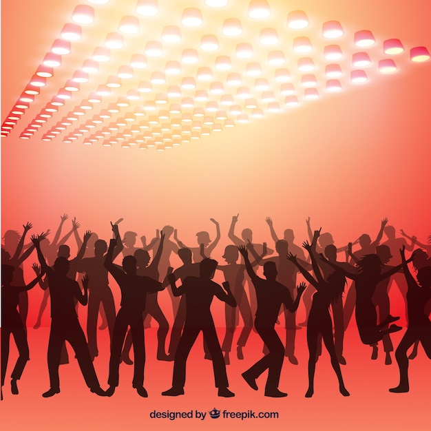 Entertainment Background Vector Party People Vector Background
