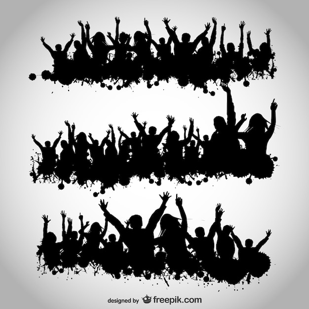 Party People Silhouette Vector Free Party People Vector Design