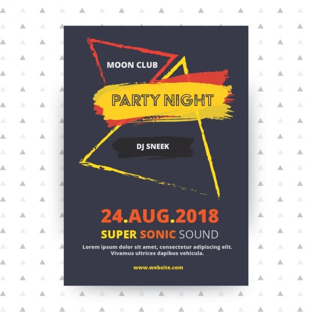 Party poster template design Free Vector