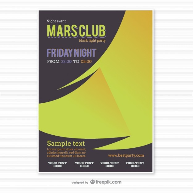 Party poster template origami style Vector | Free Download