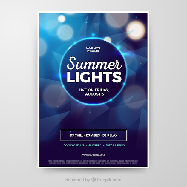 Party poster template with abstract style Free Vector