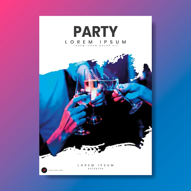 Party poster Free Vector