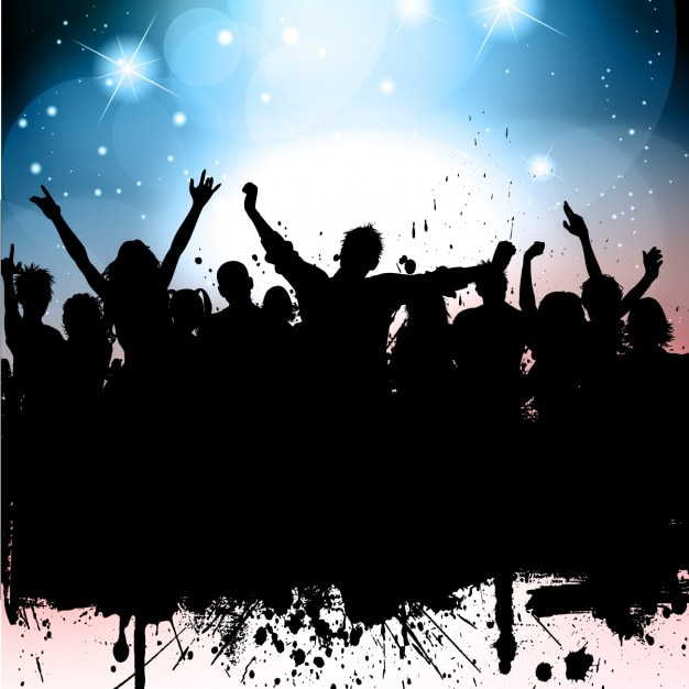 Party silhouette background Vector | Free Download