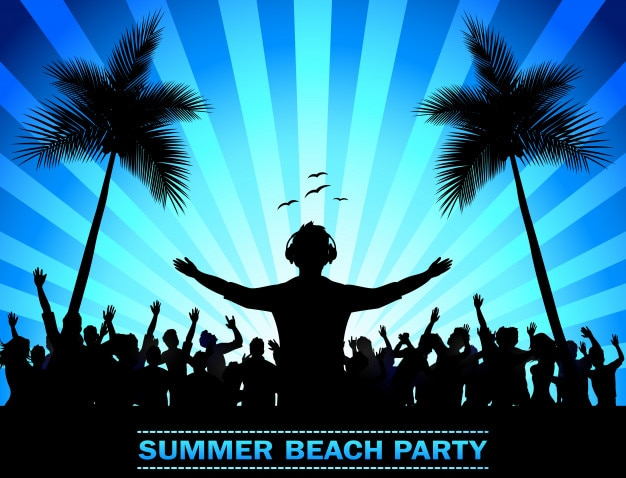 Party summer holidays Premium Vector