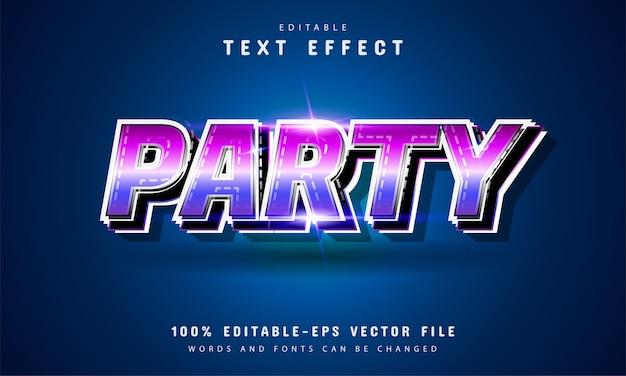 Партия текст, редактируемый текст в стиле ретро Premium векторы