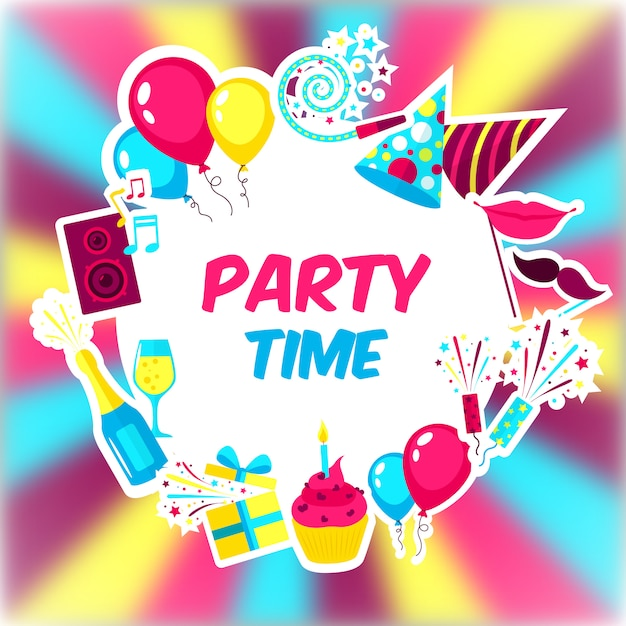 Party time background Free Vector