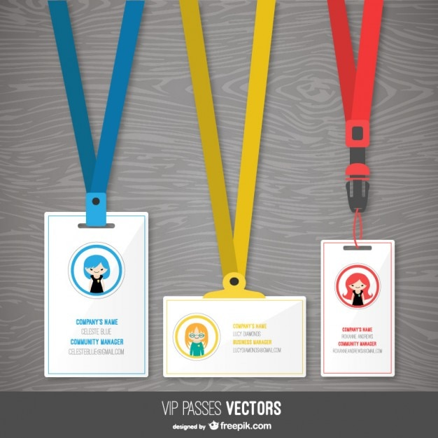 Pass Templates Pack Free Vector  Free Vip Pass Template