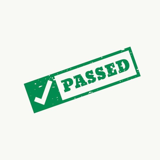 Passed stamp Free Vector