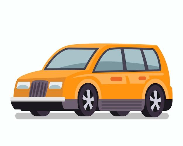 Passenger car, estate wagon vector illustration Premium Vector