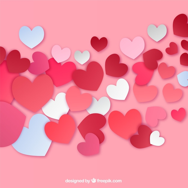 Passionate Valentines greeting card Vector – Free Download Valentine Card