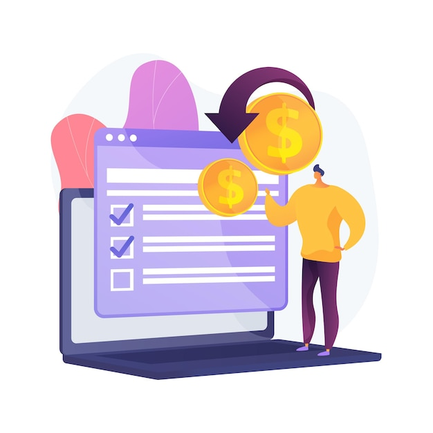 Passive earning. personal bank account. forex exchange. crowdfunding, fund raising, investment transfer. receiving income online. payback with internet. vector isolated concept metaphor illustration. Free Vector