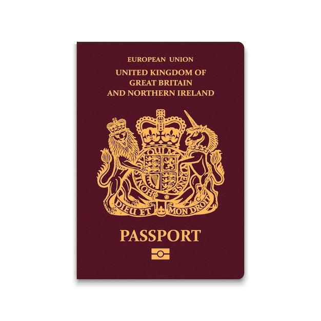 Passport of united kingdom Premium Vector