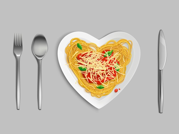 Pasta con salsa e formaggio vista dall'alto Vettore gratuito