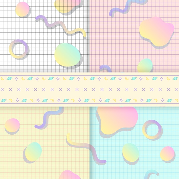 Pastel backgrounds for blogs vectors Free Vector