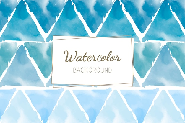 Pastel blue green watercolor background vector Free Vector