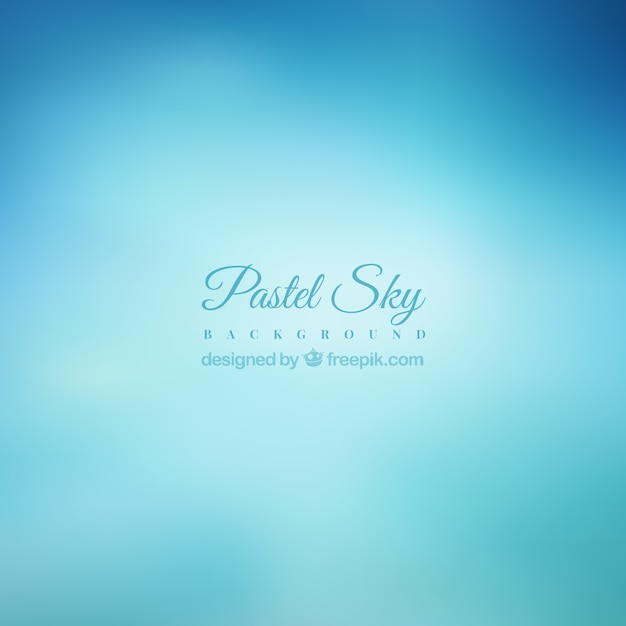 Pastel blue sky background in blur effect Free Vector