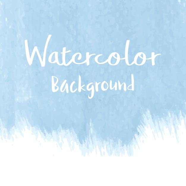 パステルブルーの水彩画の背景ベクトル 無料ベクター