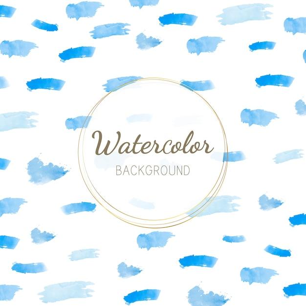 Pastel blue watercolor background vector Free Vector