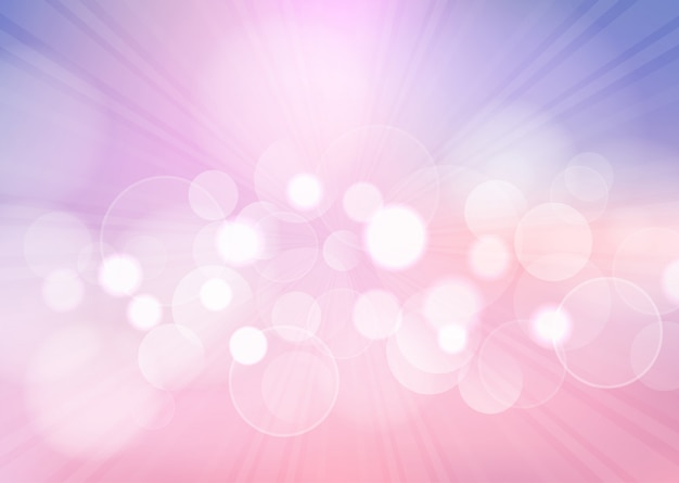 Pastel bokeh lights background Free Vector