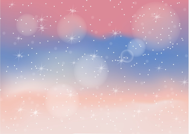 Pastel color abstract background with bokeh Premium Vector