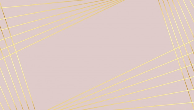Pastel color background with golden lines design Free Vector