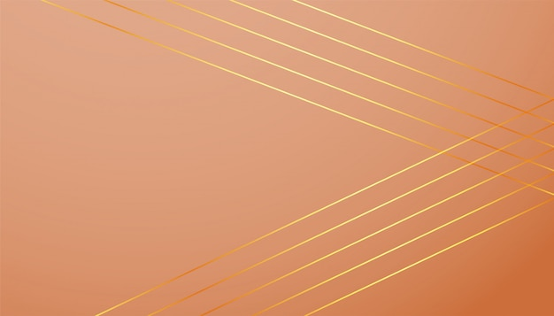 Pastel color background with golden lines shapes Free Vector