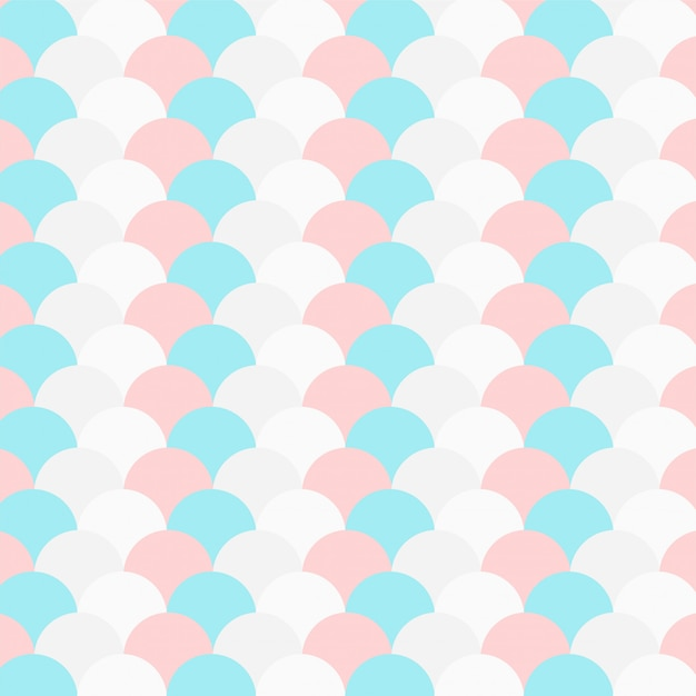 Pastel color repeated circle pattern Free Vector