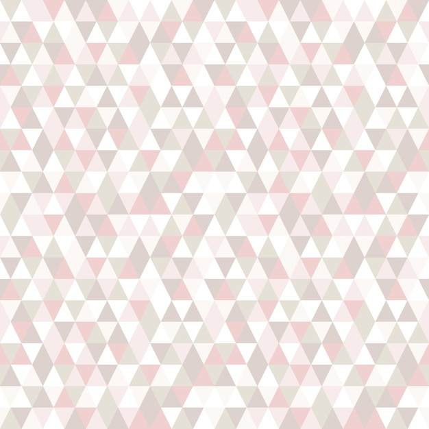 Pastel color triangle seamless pattern. Premium Vector