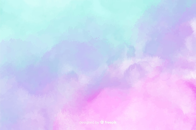 Pastel color watercolor stain background Free Vector