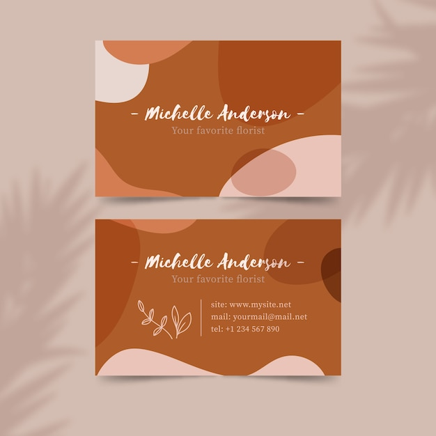 Pastel-colored stains design for business card Free Vector