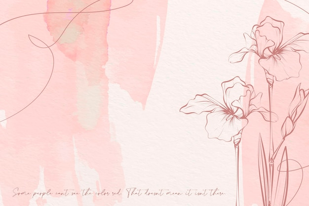 Pastel colors flowers background Free Vector