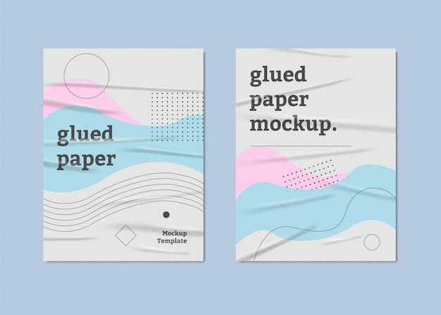 Пастельные цвета плакатов клееная бумага Premium векторы