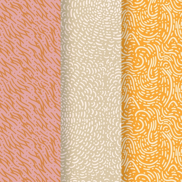 Pastel coloured lines seamless pattern template Premium Vector