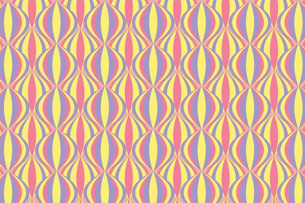 パステル幾何学的なグルーヴィーなシームレスパターン 無料ベクター