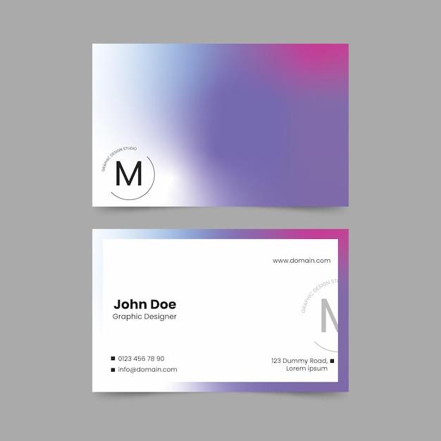 Шаблон визитной карточки пастельных градиентов Бесплатные векторы