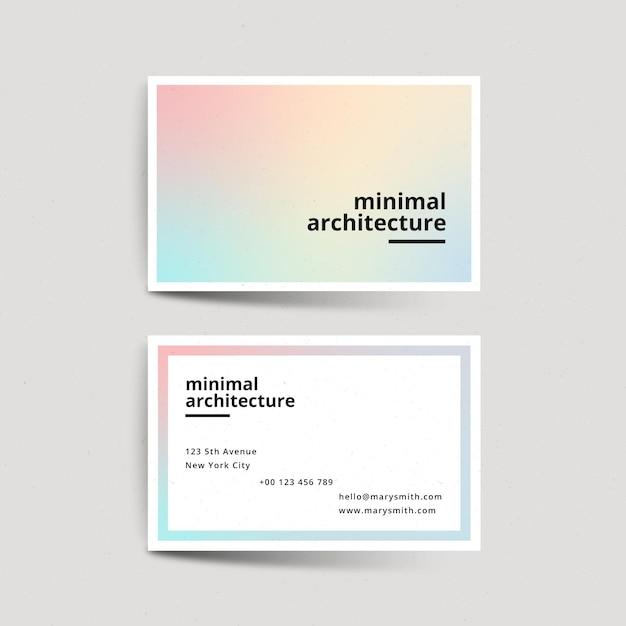 Pastel gradient company card template Premium Vector