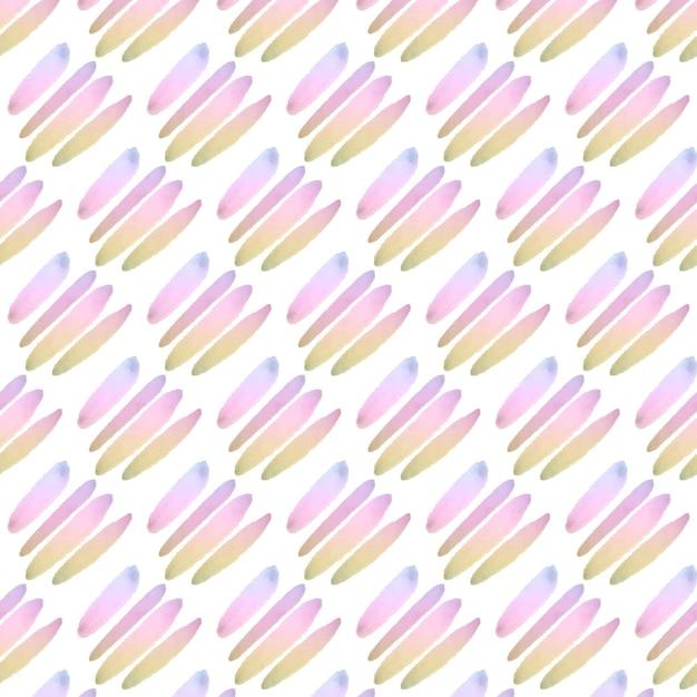 パステルライン抽象水彩シームレスパターン 無料ベクター