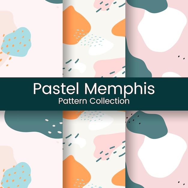 Pastel memphis pattern design Free Vector