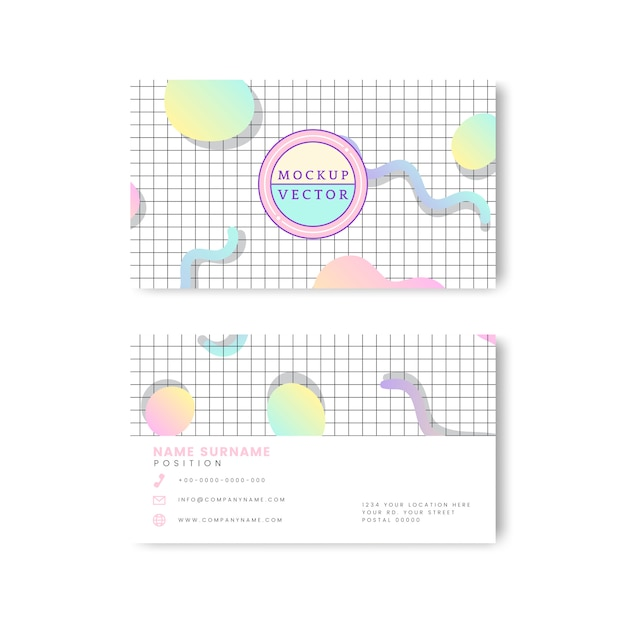 Pastel name card mockup Free Vector