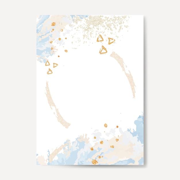 Pastel paint pour card vector Free Vector