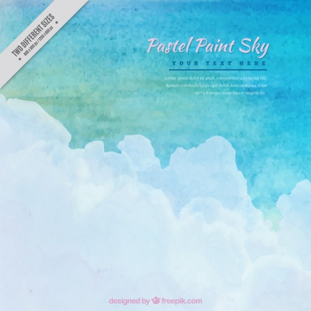 Pastel paint sky background in watercolor\ effect