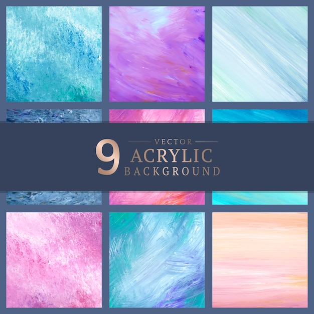 Pastel painted canvases Free Vector