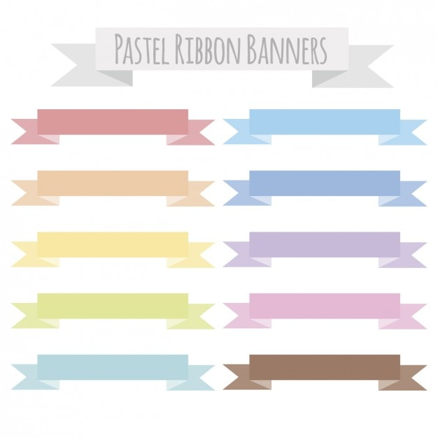 Pastel ribbon banners | Free Vector