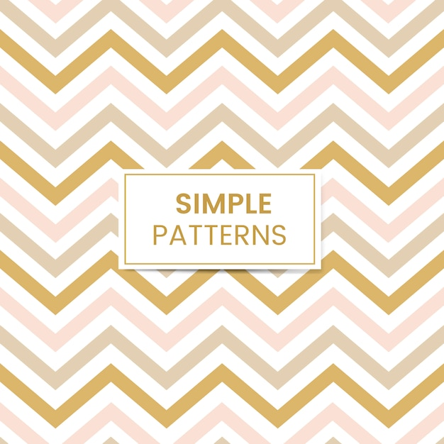 Pastel seamless zigzag pattern vector Free Vector