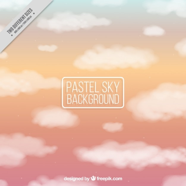 Pastel sky background with clouds
