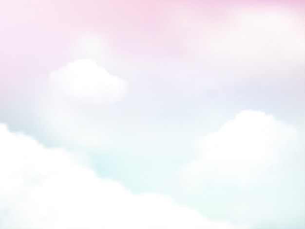 Pastel of sky and soft cloud abstract background Premium Vector