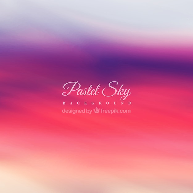 Pastel sunset background