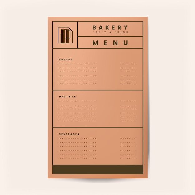 Pastries and beverages menu template vector Free Vector